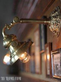画像1: 角度調整付ヴィクトリアン真鍮ブラケット照明|アメリカンライト