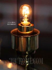 画像3: USAヴィンテージホブネイルのミルクガラスシェード付ミニテーブルライト