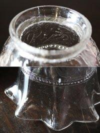 画像2: USAヴィンテージクリアガラスのフリルシェード付ミニテーブルライト