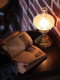 画像3: USAヴィンテージ照明フロストガラスチムニーテーブルライト