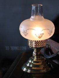 画像1: USAヴィンテージ照明フロストガラスチムニーテーブルライト