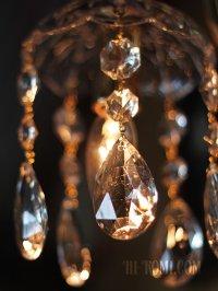 画像3: ヴィンテージガラス1灯ミニシャンデリアブラケットライト|照明