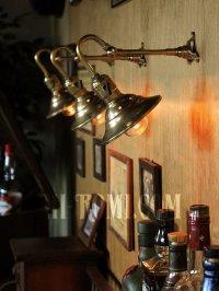 画像3: 工業系角度調整付ミニシェード真鍮製ブラケット照明