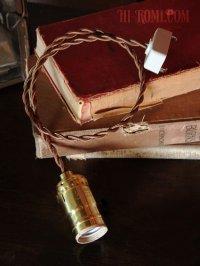 画像2: 【60cmコード】プラ製ターンスイッチ付LEVITON社真鍮ソケットペンダントライト
