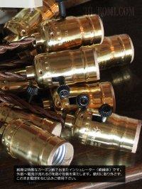 画像3: 【60cmコード】プラ製ターンスイッチ付LEVITON社真鍮ソケットペンダントライト