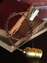 画像2: 【60cmコード】金色LEVITON社ターンスイッチ付アルミ製ソケットペンダントライト