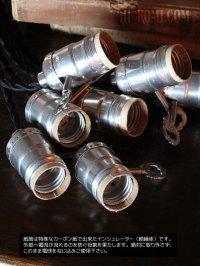 画像3: 【コード丈変更可能】銀色ヴィンテージサークルF社アルミ製ソケットペンダントライト