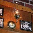 画像5: ヴィンテージガラス火屋ブラケットライト|壁掛け照明アンティークランプ (5)