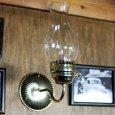 画像13: ヴィンテージガラス火屋ブラケットライト|壁掛け照明アンティークランプ (13)