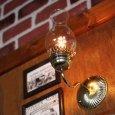 画像6: ヴィンテージガラス火屋ブラケットライト|壁掛け照明アンティークランプ (6)