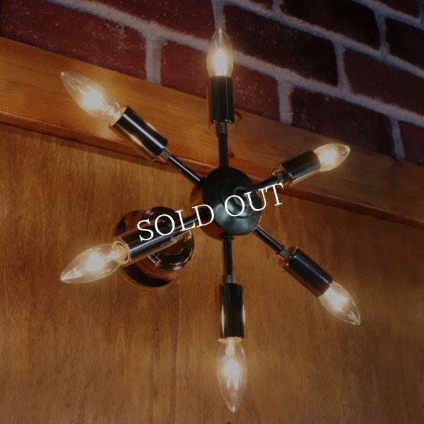 画像1: ミッドセンチュリースプートニクランプ6灯ブラケットライト/USA50's60'sアメリカヴィンテージ壁掛け照明  (1)