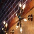 画像3: ミッドセンチュリースプートニクランプ6灯ブラケットライト/USA50's60'sアメリカヴィンテージ壁掛け照明  (3)
