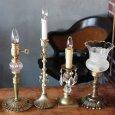 アンティークランプ|キャンドル&ローズ薔薇細工のテーブルライト卓上照明