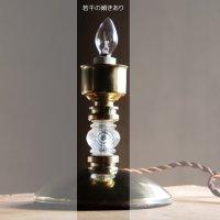 画像2: USAヴィンテージホブネイルチムニー付クリアガラステーブルライト|アンティーク卓上照明ランプ