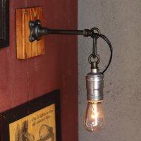 画像1: インダストリアルシーリングライト兼用ブラケットライトチェーンリング付 アンティーク工業系壁掛け照明ブルックリンスタイル