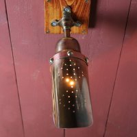 画像2: インダストリアルブラスピクチャーライト・ブラケットライト|スチームパンク工業系真鍮製壁掛け照明