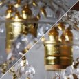 ヴィンテージミニシャンデリアプリズムペンダントライト|アンティークガラス吊下げ照明ランプ