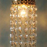 画像2: ヴィンテージミニシャンデリアオクタゴンプリズムペンダントライト|アンティーク鍵スイッチ吊下げ照明ランプ