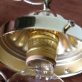 画像15: ヴィンテージダイヤ柄カットガラスシェードペンダントライト|アンティークガラス吊下げ照明ランプ (15)