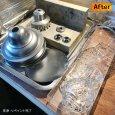 リペア修復の様子|ガラスチムニーハリケーンランプUSAヴィンテージテーブルライト