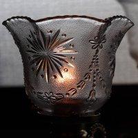 画像3: アンティーク真鍮製テーブルライト卓上照明|USA結晶模様のプレスガラス六角シェード&GE社製ソケット