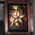USAヴィンテージランタンランプ・リメイクステンドグラス壁掛け屋内照明|ブラケットライト