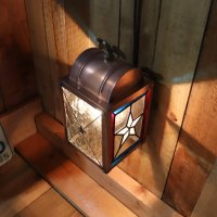 画像2: USAヴィンテージランタンランプ・リメイクステンドグラス壁掛け屋内照明|ブラケットライト