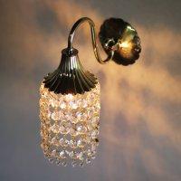 画像1: USAヴィンテージミニシャンデリアブラケットライト壁掛け照明|アンティーク花型スモークベル