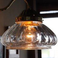 画像2: USAヴィンテージオニオンシェイプガラスシェード付ブラケットライト アンティーク壁掛け照明