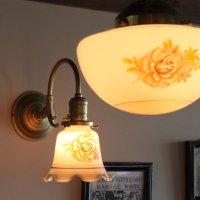 画像3: アンティーク壁掛け照明薔薇|USAヴィンテージローズオーロラフリルシェード付ブラケットライト