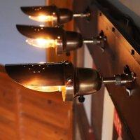 画像1: 【小】インダストリアルブラスピクチャーライト・ブラケットライト スチームパンク工業系真鍮製壁掛け照明