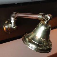 画像1: 工業系壁掛け照明|真鍮製山型シェード&銅製配管インダストリアルブラケットライト
