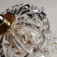 画像2: ヴィンテージミニシャンデリアプリズムペンダントライト【クリア】|アンティークガラス吊下げ照明ランプ透明