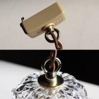 画像3: ヴィンテージミニシャンデリアプリズムペンダントライト【クリア】|アンティークガラス吊下げ照明ランプ透明