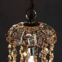 画像2: ヴィンテージミニシャンデリアプリズムペンダントライト【アンバー】 アンティークガラス吊下げ照明ランプ琥珀