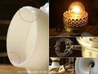 画像2: USAヴィンテージ卓上照明ホブネイルミルクガラス鍵スイッチ付テーブルライト|アンティークテーブルランプ