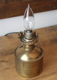 画像2: USAヴィンテージ卓上照明真鍮製オイルランプ型ミニテーブルライト|オールドアメリカンランプガレージ工業系