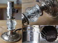 画像2: USAヴィンテージ卓上照明レトロなガラス飾りのミニテーブルランプ|オールドアメリカンアンティークライト真鍮豆ライト