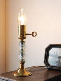画像1: USAヴィンテージ卓上照明レトロなダブルガラス球のテーブルランプ|アンティークヴィクトリアンテーブルライト
