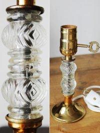 画像2: USAヴィンテージ卓上照明レトロなダブルガラス球のテーブルランプ|アンティークヴィクトリアンテーブルライト