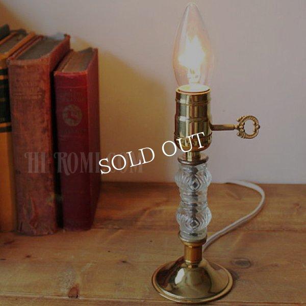 画像1: USAヴィンテージ卓上照明レトロなダブルガラス球のテーブルランプ|アンティークヴィクトリアンテーブルライト (1)