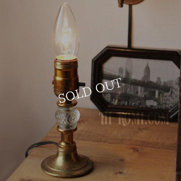 アンティークランプ|ガラス飾りミニ卓上照明テーブルライト
