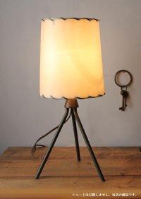 画像3: USAヴィンテージ卓上照明真鍮製三脚型テーブルランプ|60'sミッドセンチュリーテーブルライト工業インダストリアル
