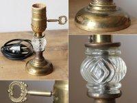 画像2: USAヴィンテージ真鍮卓上照明レトロなガラス球のテーブルランプ|アンティークヴィクトリアンテーブルライト