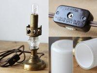 画像2: USAヴィンテージ卓上照明筒型ミルクガラスシェードのミニテーブルライト|アンティークナイトランプ