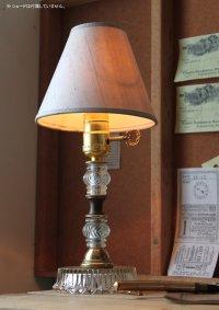 画像3: USAヴィンテージ真鍮卓上照明鍵付カットが美しいガラス装飾のテーブルランプ|アンティークヴィクトリアンテーブルライト