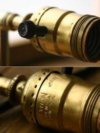 画像3: ヴィンテージ真鍮製ウォールランプ/アンティーク壁掛けライト照明