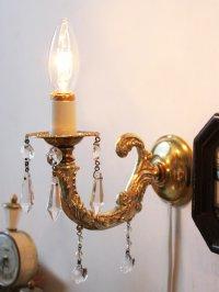 画像2: ヴィンテージガラスプリズムミニキャンドルブラケットライト照明