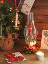 画像1: USAヴィンテージクリスマスハリケーンランプC|卓上照明キャンドル