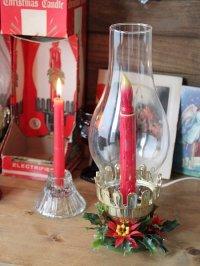 画像1: USAヴィンテージクリスマスハリケーンランプB 卓上照明キャンドル
